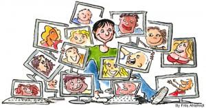 La familia y su vida entre pantallas